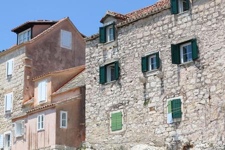 mediterranean homes: Traditional mediterranean homes on a cliff in Split, Croatia.