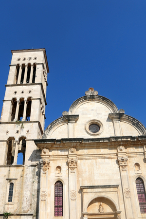 stephen: The Cathedral of St. Stephen in the town Hvar, on island of Hvar in Croatia. Stock Photo