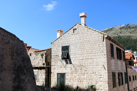 croatia dubrovnik: Old stone house in the Old Town in Dubrovnik, Croatia. Dubrovnik is famous touristic location and UNESCO World Heritage Site.