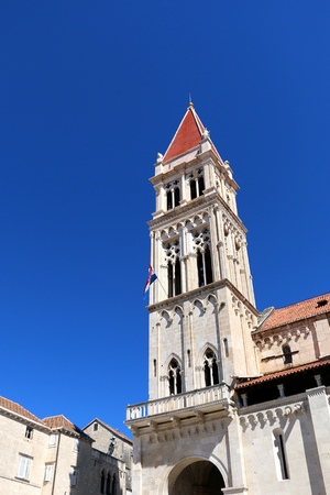 The Cathedral of St. Lawrence - landmark in Trogir, Croatia. Trogir is popular travel location