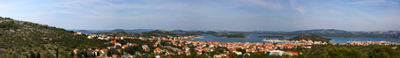 murter: Panorama of town Murter on the island Murter, Croatia.