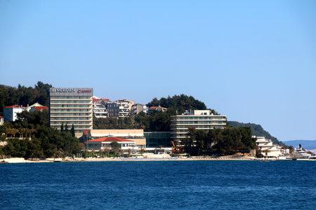 Split, Croatia - April 9, 2017: Le Meridien Lav is a popular hotel in Podstrana, near Split, Croatia.