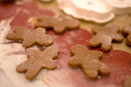 Making gingerbread cookies. Selective focus.