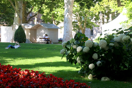 Details in park Zrinjevac, in central Zagreb, Croatia. Selectve focus.