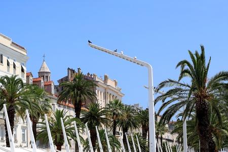 Historical architecture on Riva Promenade in Split, Croatia. Stock Photo