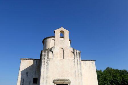 Medieval church of the Holy Cross in Nin, Croatia, known as smallest cathedral in the world.