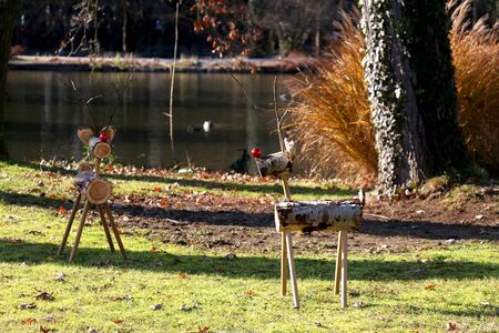 Christmas decorations in park Maksimir in Zagreb, Croatia.