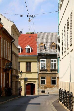 Historical architecture in uptown Zagreb, Croatia.