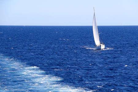 Sailing boat on the sea. Beautiful sunny day.