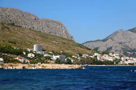 View of Duce, small coastal town near Split, Croatia. Archivio Fotografico