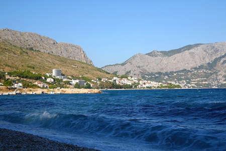 View of Duce, small coastal town near Split, Croatia.