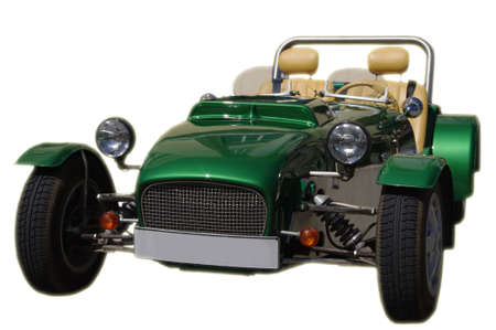 ralli: green electro car at Tallinn � Monte Carlo ralli Stock Photo