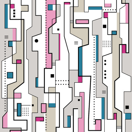 pink blue gray and purple abstract pattern Vector