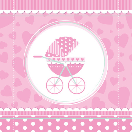 baby carriage: pink girl baby stroller