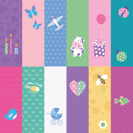 kids greeting cards collection Vector