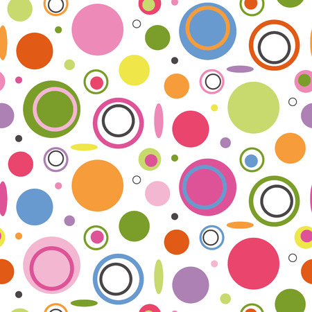 colorful circles pattern  Vector