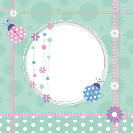 ladybugs greeting card  Vector