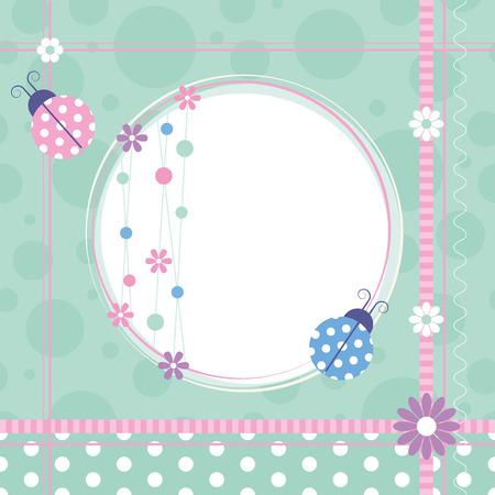 baby shower boy: ladybugs greeting card