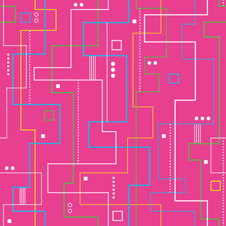 linear abstract pattern on pink background  Vector