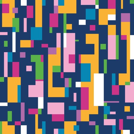 colorful abstract pattern on dark blue background Vector