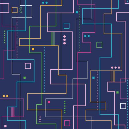 bauhaus: linear abstract pattern on dark blue background