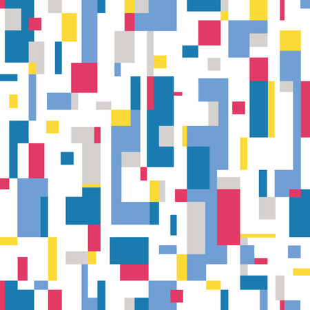 bauhaus: colorful abstract pattern on white background  Illustration