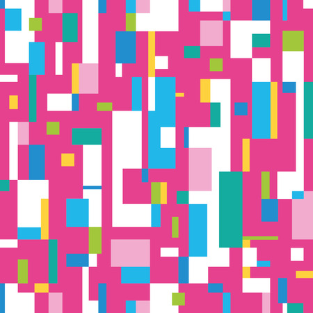 bauhaus: colorful abstract illustration on pink background