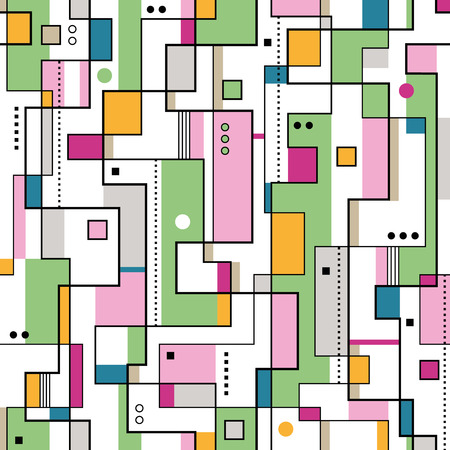 green orange and pink abstract pattern  Vector