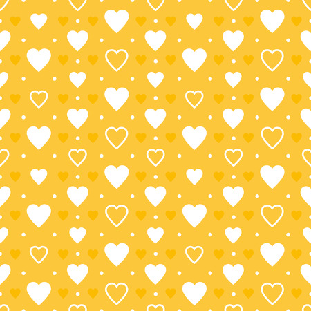 yellow hearts pattern