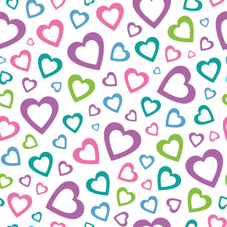 lovely colorful hearts pattern  Vector