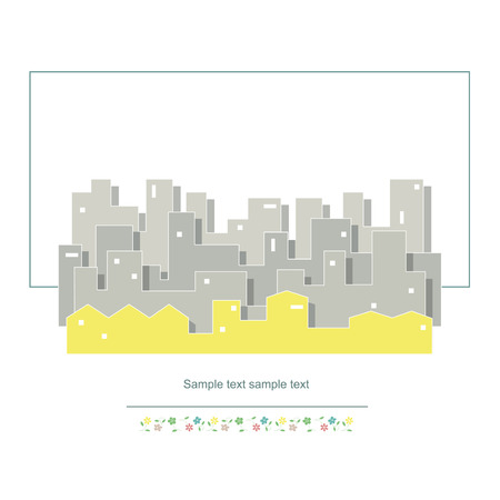 urban planning: cityscape vector illustration  Illustration