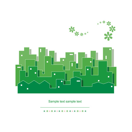 green ecology cityscape vector illustration  向量圖像