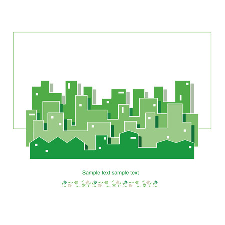 green ecology cityscape vector illustration  Vector