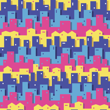 colorful cityscape pattern Vector