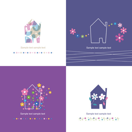 welcome home: house symbol collection - housewarming  Illustration