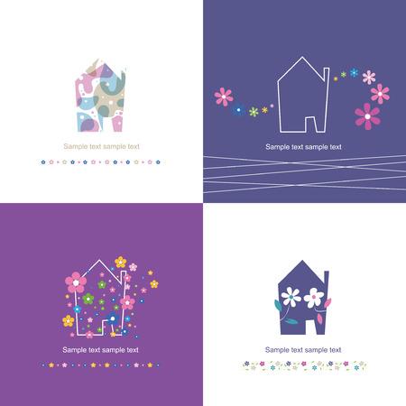 house symbol collection - housewarming  Illustration
