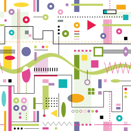 trendy colorful abstract pattern Vector