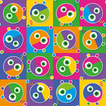 colorful robots collection pattern Vector