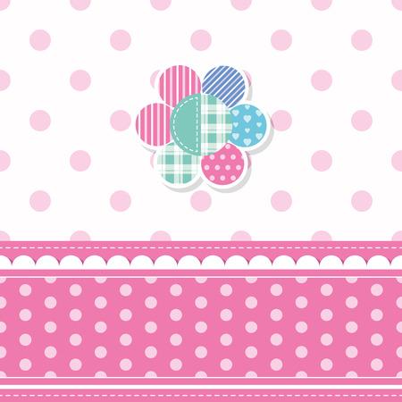 cute baby girl greeting card Illustration