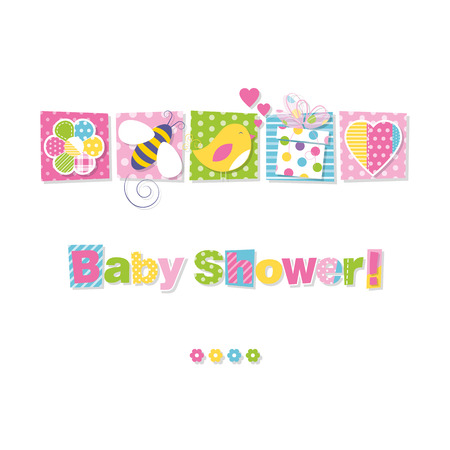 baby romantic: baby shower greeting card