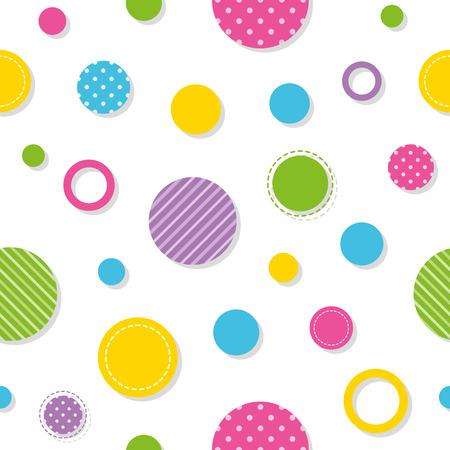 polka dots: colorful circles pattern Illustration