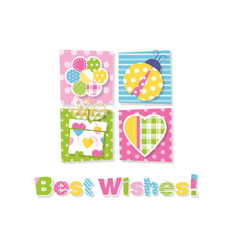 best wishes: best wishes greeting card Illustration