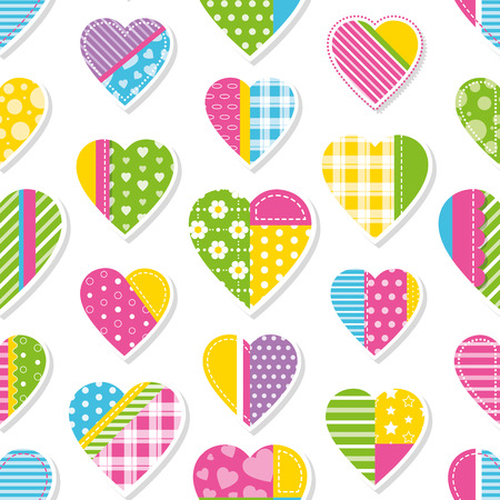 hearts collection pattern Vector