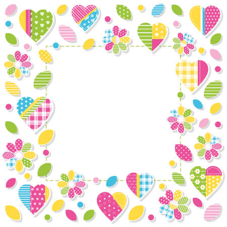 cover girls: hearts and flowers border