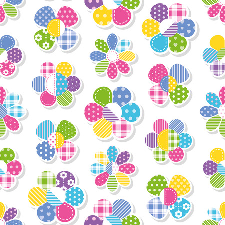 green day baby blue background: flowers collection pattern