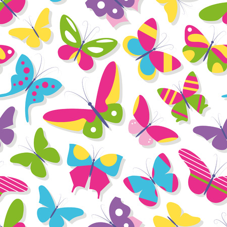 green day baby blue background: cute butterflies collection pattern