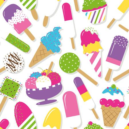 ice cream soft: ice cream collection pattern