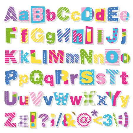 abecedario: colección letras de colores Vectores