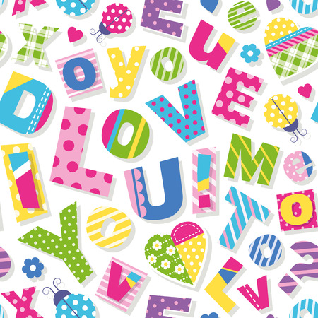I love you do you love me too pattern