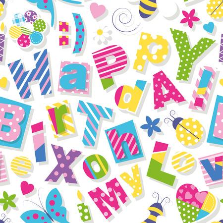 happy birthday my love pattern